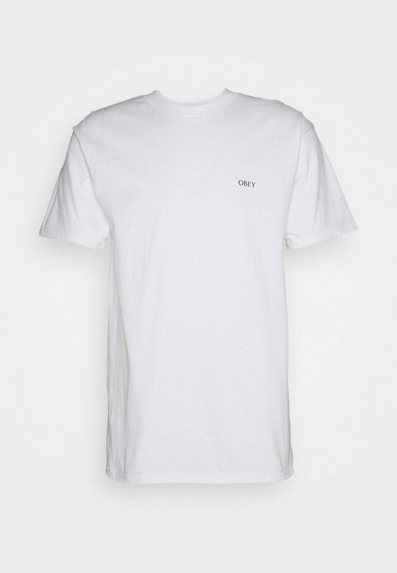 Obey Clothing - BURN BABY BURN - Printtipaita - white