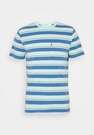 SUNSET POCKET - T-shirt z nadrukiem - blue