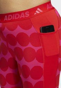 adidas Performance - MARIMEKKO - Leggings - vivid red - 4