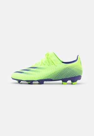 X GHOSTED.3 FOOTBALL BOOTS FIRM GROUND - Korki Lanki - signal green/energy ink