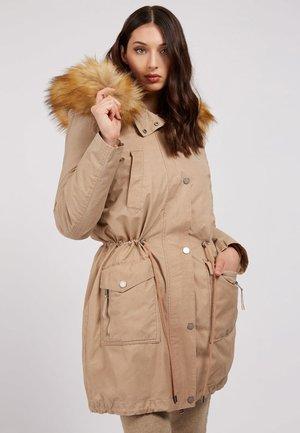 PARKA MIT KAPUZE KUNSTPELZ - Winter coat - beige