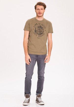 T-OFF - Print T-shirt - beige