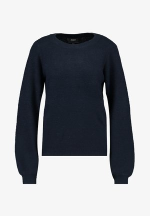 Strikpullover /Striktrøjer - mottled dark blue