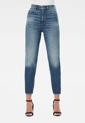 JANEH ULTRA HIGH MOM ANKLE - Straight leg jeans - faded riverblue
