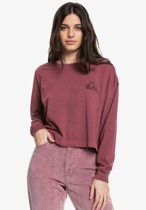 Long sleeved top - merlot
