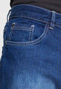 Brave Soul - Denim shorts - mid blue wash - 5