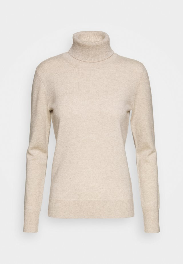 TURTLENECK - Strikkegenser - oatmeal