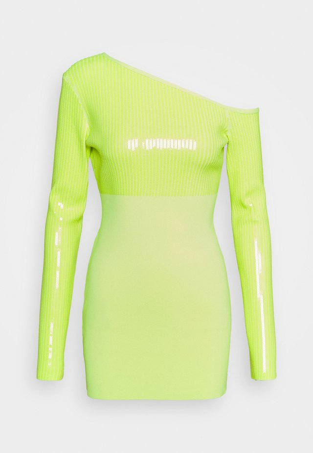 Cocktail dress / Party dress - neon yellow
