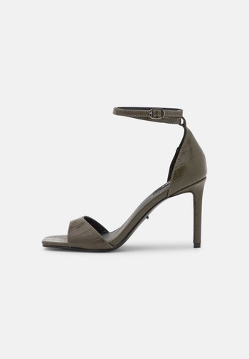 ONLALYX CROC - High heeled sandals - olive