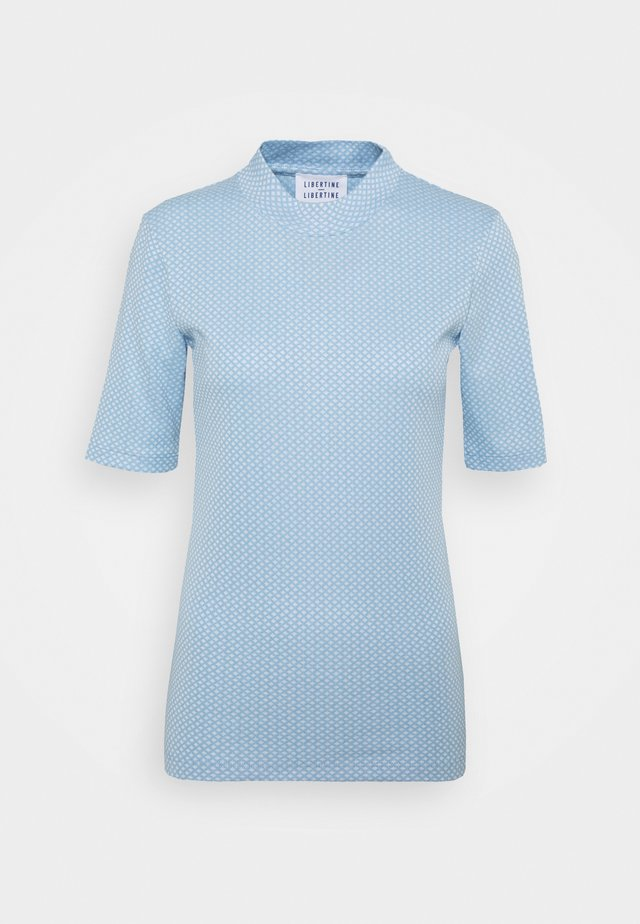 ATTACK - T-shirts med print - sky blue grid