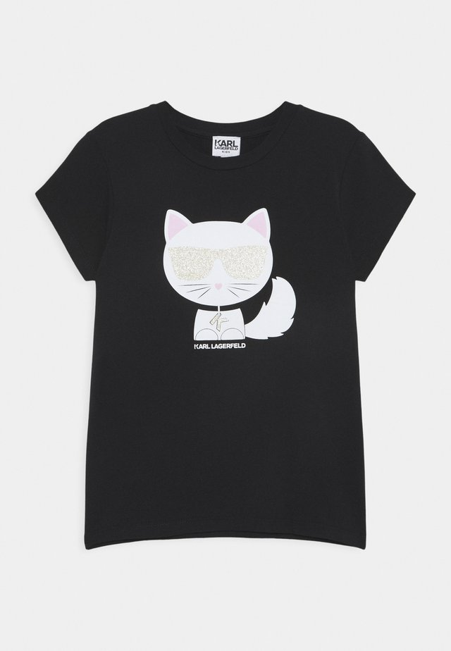 SHORT SLEEVES TEE - Camiseta estampada - black