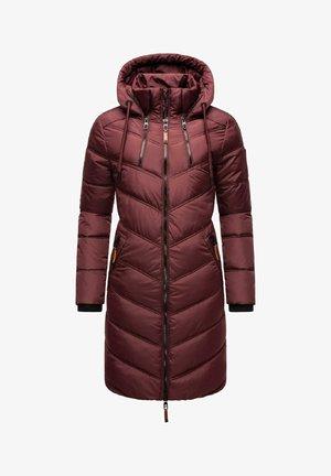 ARMASA - Winter coat - dark red melange