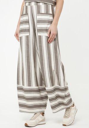 CABULA - Trousers - hellbraun/weiß