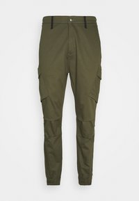 SIKSILK - FITTED CUFF PANTS - Cargobyxor - khaki - 3