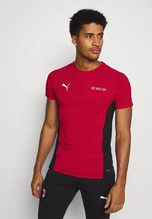 AC MAILAND EVOSTRIPE TEE - Article de supporter - tango red/black