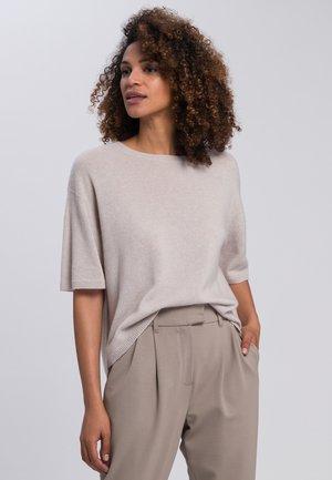 Basic T-shirt - light taupe melange