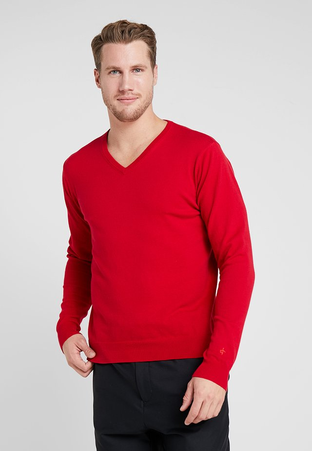 CLASSIC V NECK - Sweter - tango red