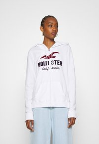 Hollister Co. - TERRY TECH CORE - Zip-up hoodie - white - 0