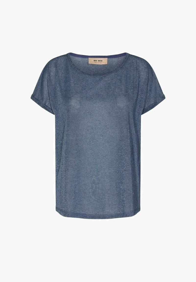 Mos Mosh - KAY TEE - Basic T-shirt - vintage indigo