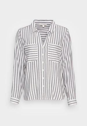 STRIPED COZY  - Button-down blouse - brown white