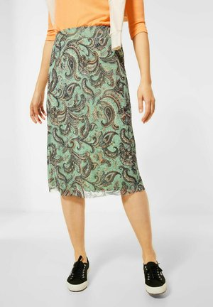 A-line skirt - grün