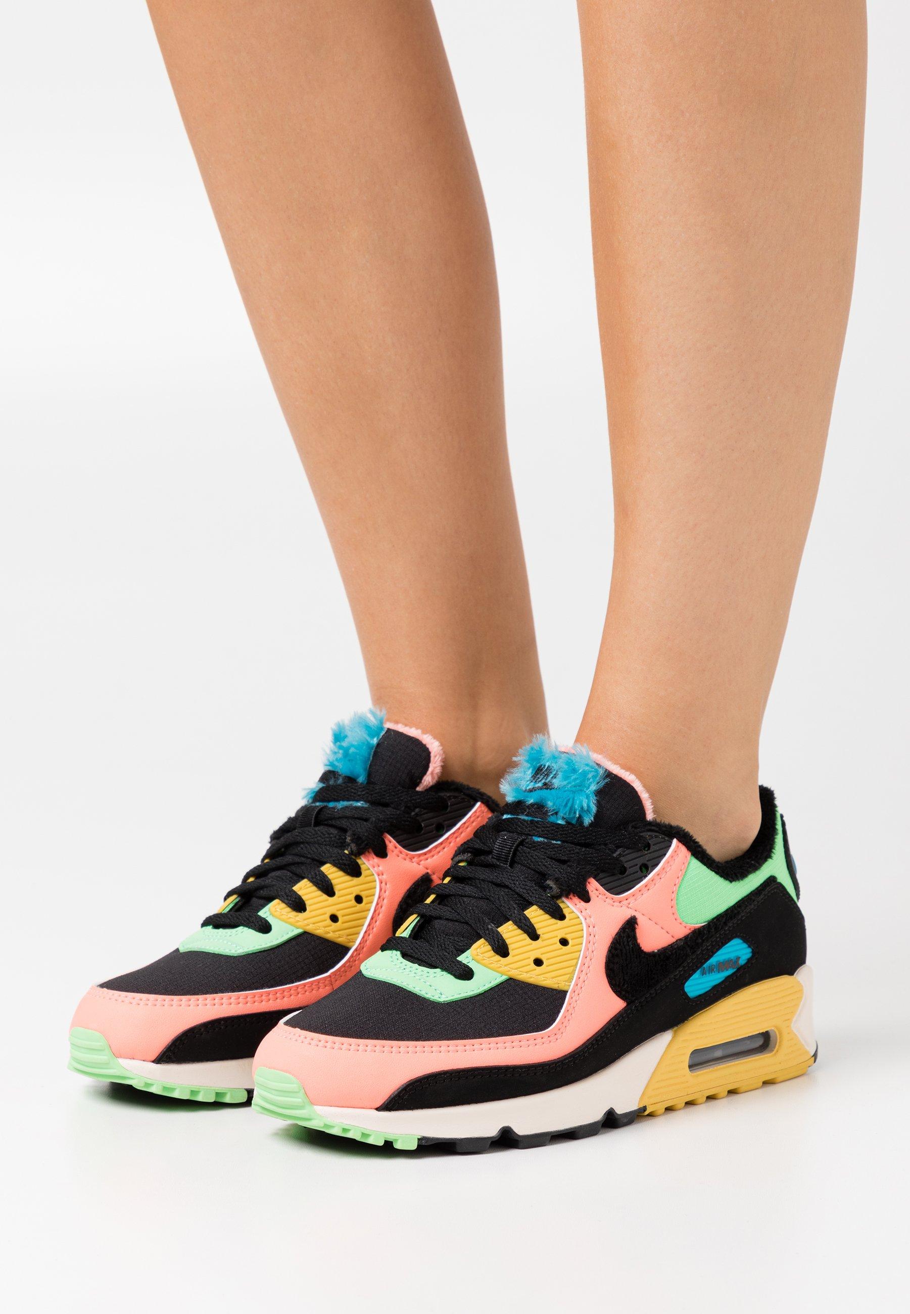 Nike Sportswear AIR MAX 90 - Trainers - atomic pink/black/laser ...