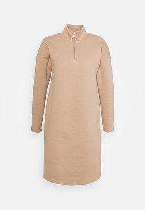 NMPERI ASYA HIGHNECK DRESS - Day dress - praline