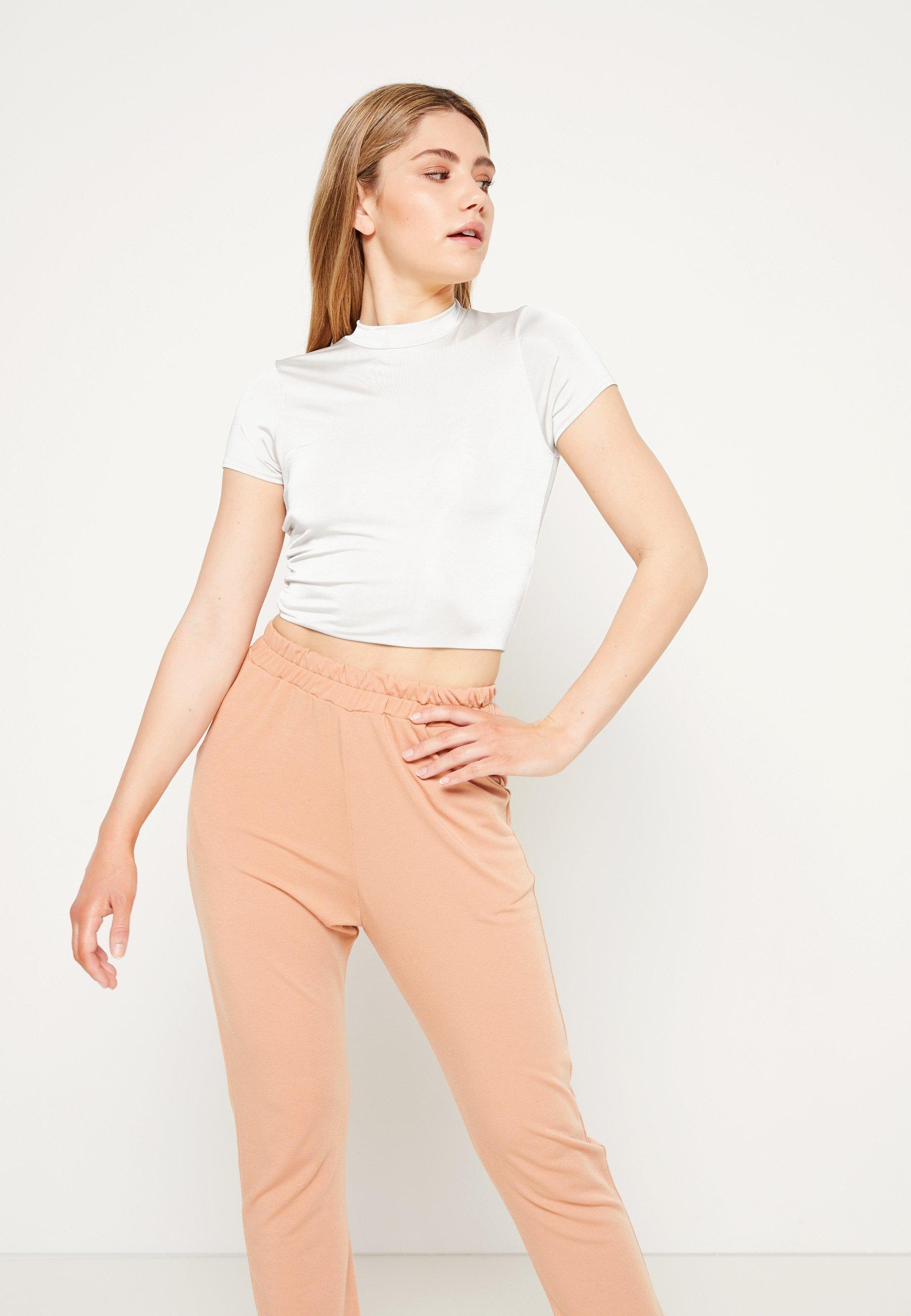 Damen SLINKY CREW NECK CAP SLEEVE CROP - T-Shirt basic