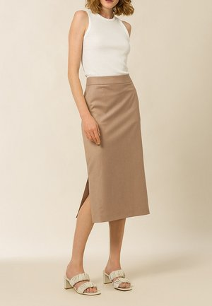 ANICE - Pencil skirt - sand melange