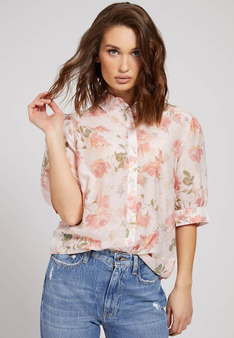 Guess - Button-down blouse - blumenmuster