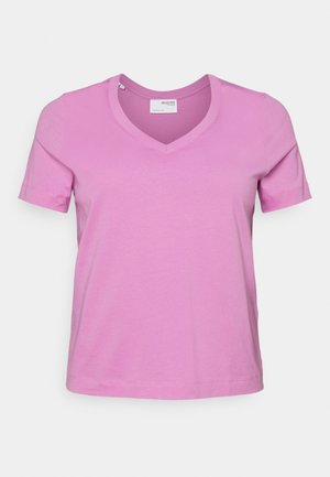 SLFANDARD NECK TEE - T-shirt basic - opera mauve