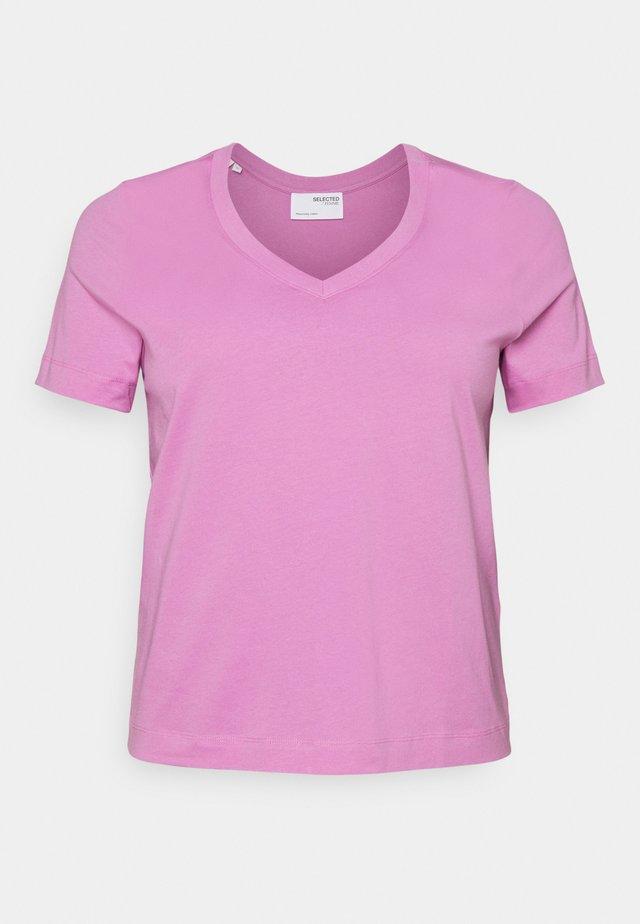 SLFANDARD NECK TEE - T-shirts - opera mauve