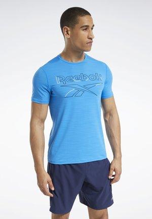 WORKOUT READY ACTIVCHILL T-SHIRT - Print T-shirt - blue