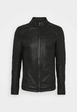 WILSON - Kožená bunda - black