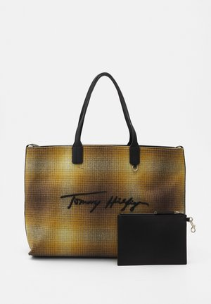 ICONIC TOTE CHECK - Cabas - amber/ochre