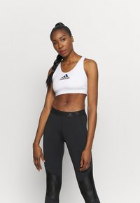 adidas Performance - ASK BRA - Medium support sports bra - white - 0