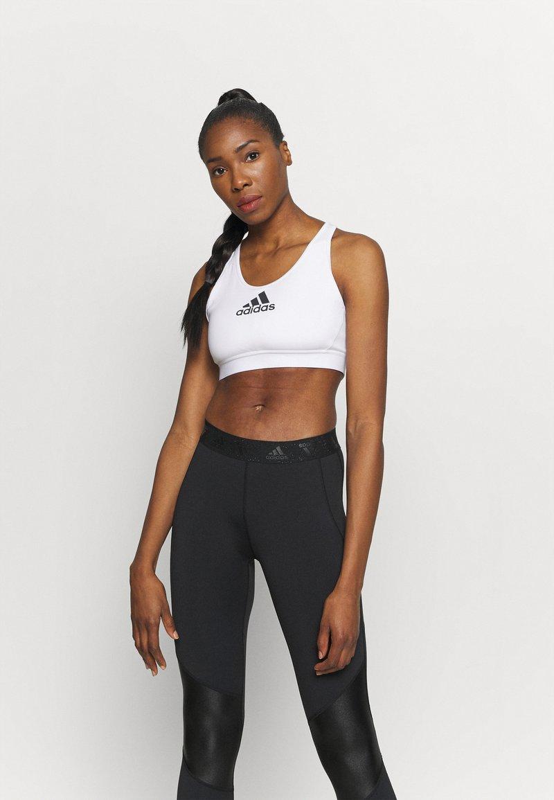adidas Performance - ASK BRA - Medium support sports bra - white