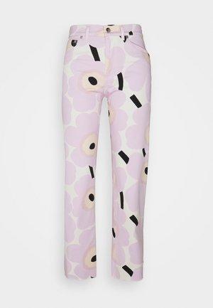 KAUVAN PIENI UNIKKO TROUSERS - Trousers - lavender/black/white