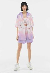 Bershka - Button-down blouse - mauve - 1