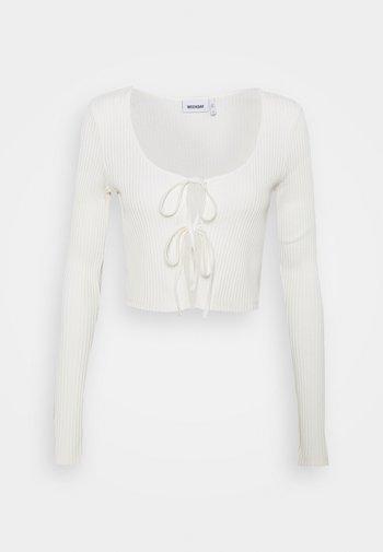 TIE CARDIGAN - Cardigan - off white