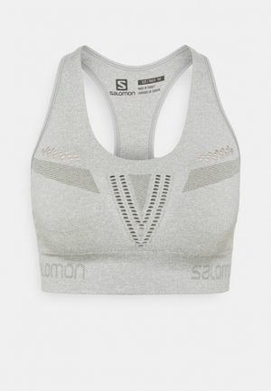 ELEVATE MOVE ON BRA  - Medium support sports bra - wrought iron heather