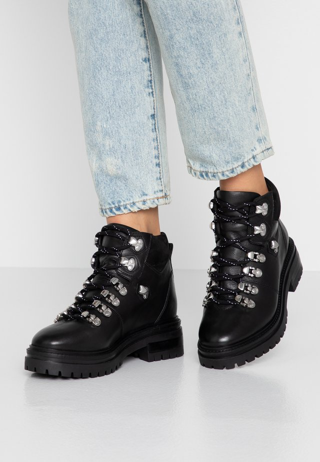 ABOVE ALL - Lace-up ankle boots - black