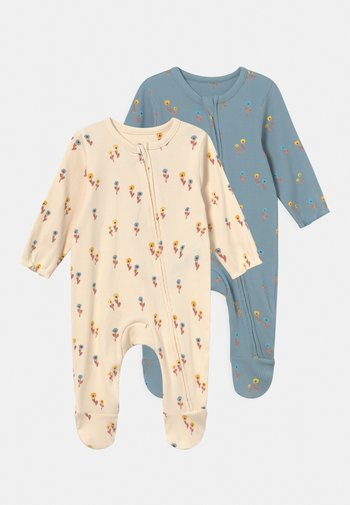 BABY FLORAL 2 PACK - Sleep suit - blue mix