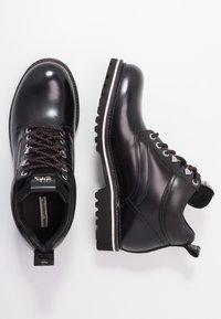 KARL LAGERFELD - TERRA MID LACE BOOT - Šněrovací kotníkové boty - black - 1