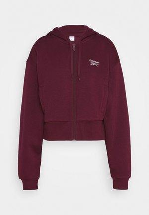 VECTOR HOODIE - veste en sweat zippée - maroon