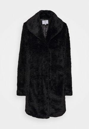 LONGLINE SHAWL COLLAR COAT - Zimní kabát - black