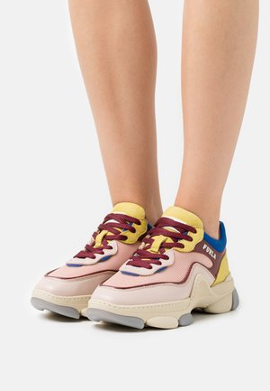 LACE UP - Tenisky - candy rose/bluette/lime/burgundy