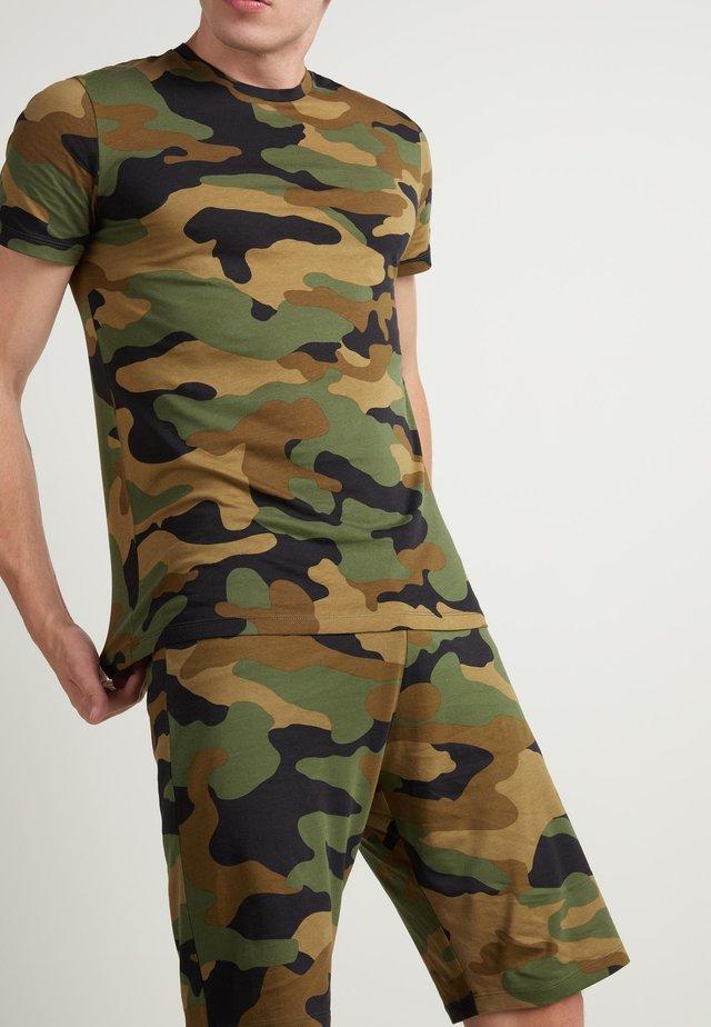 Nachtwäsche Set - black military camouflage print
