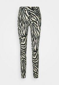 Kaffe - KAANIMA  - Leggings - Trousers - black/beige - 0