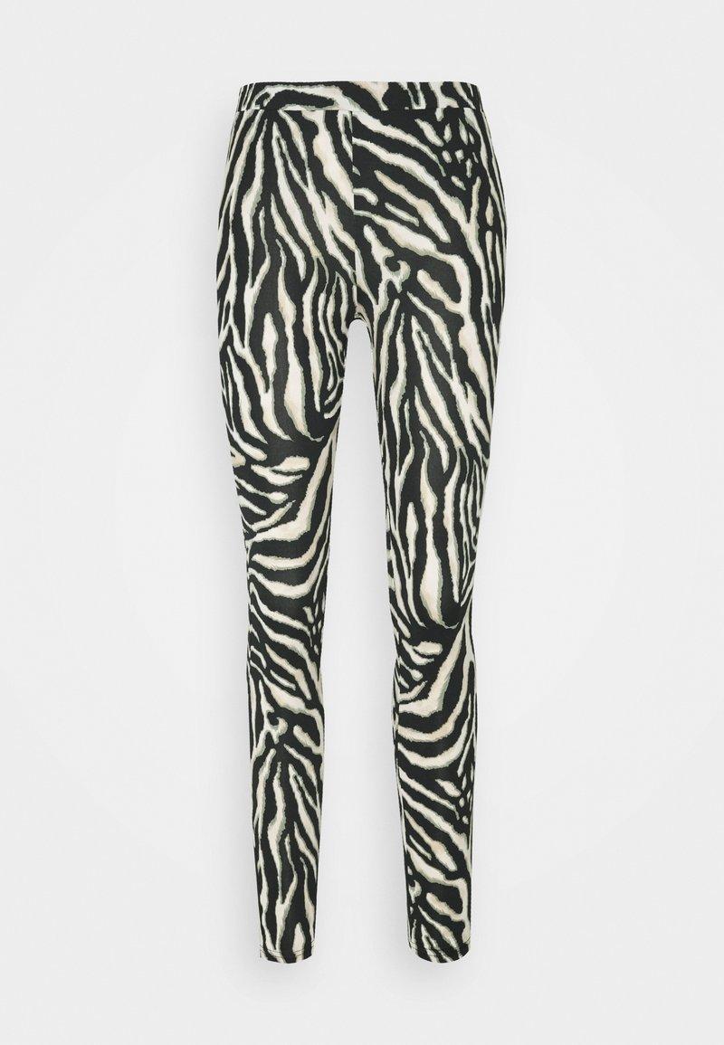 Kaffe - KAANIMA  - Leggings - Trousers - black/beige